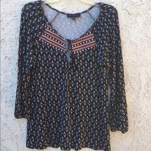 Sanctuary boho/embroidered peasant blouse